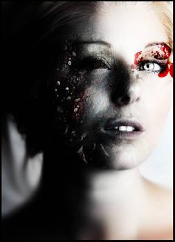 Girl in darkness manipulation