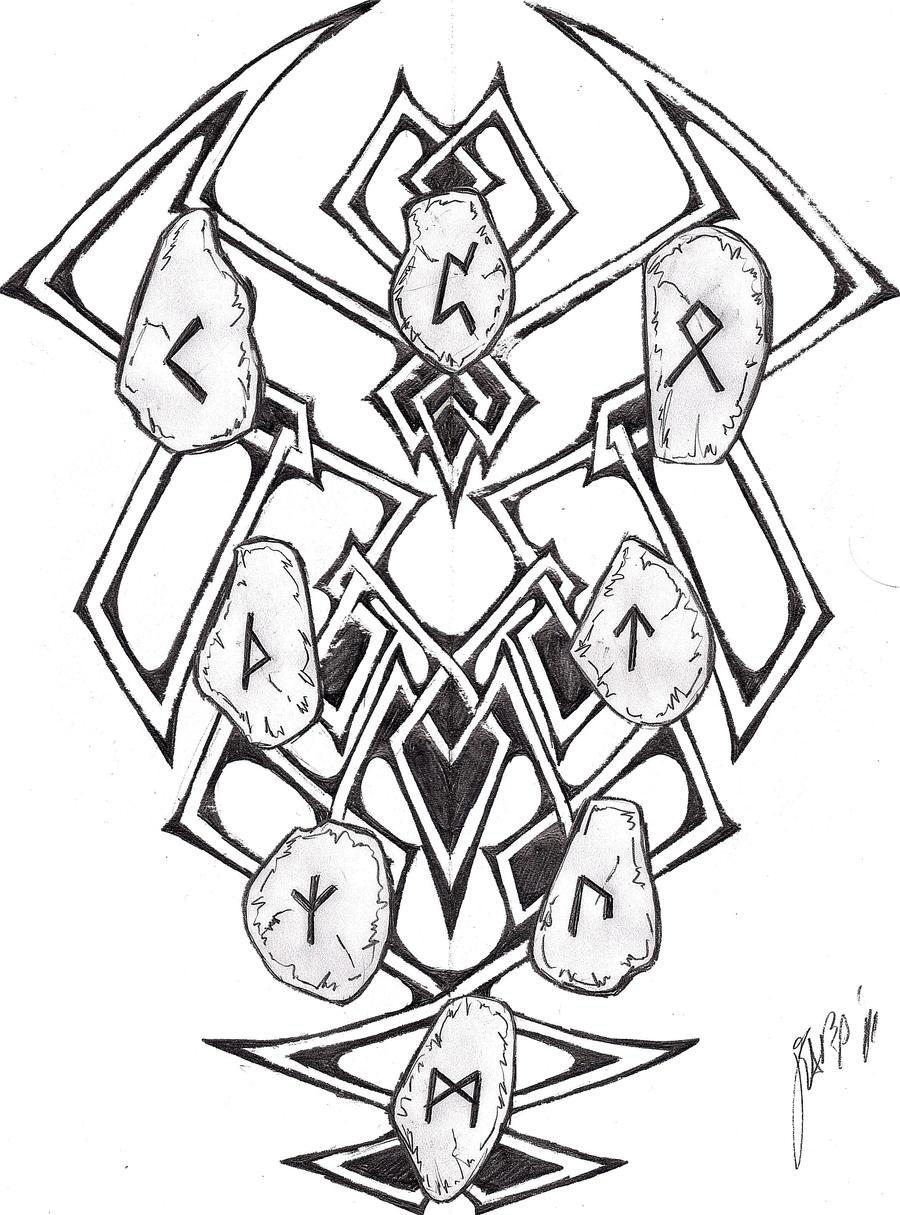 celtic knot and runes tattoo by grimdiskord on deviantart. Black Bedroom Furniture Sets. Home Design Ideas