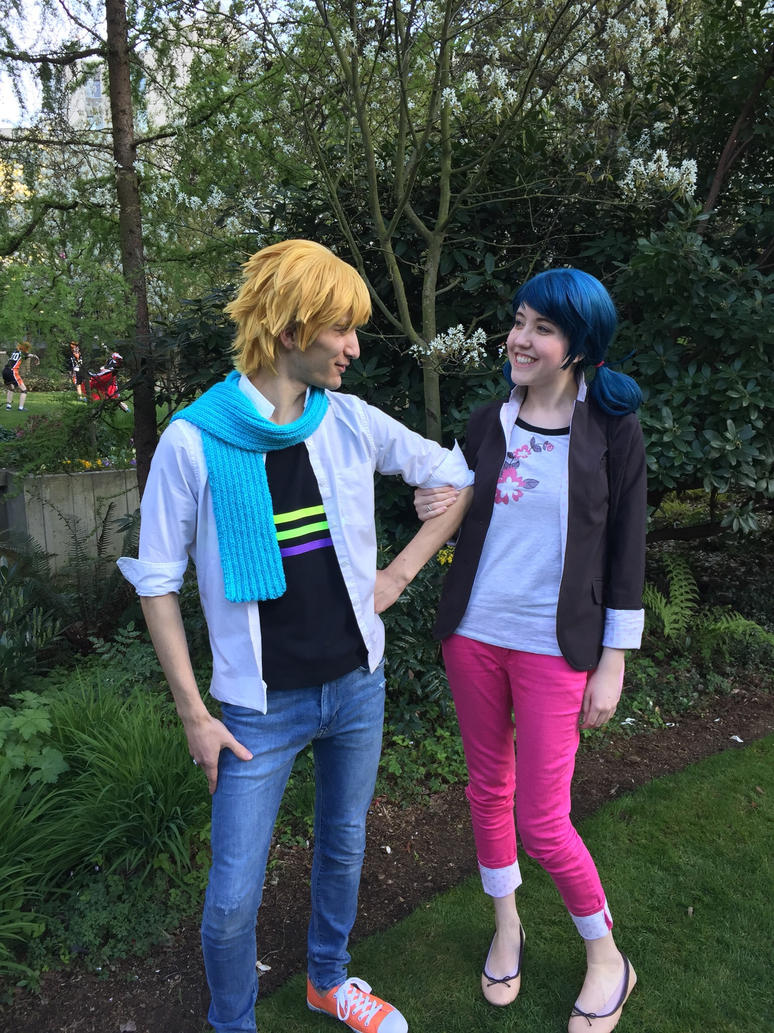Adrien and Marinette  by NedlyDeadly
