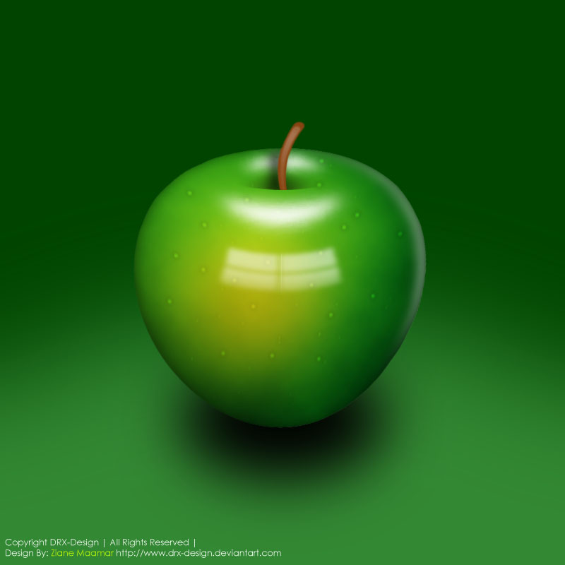delicious green apple illustration-#main