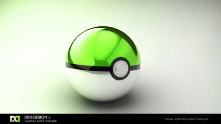 Green Pokeball by DRX-Design