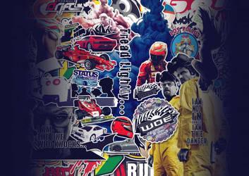 Sticker Bomb Cover