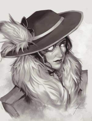 Lady in a fancy hat by welume