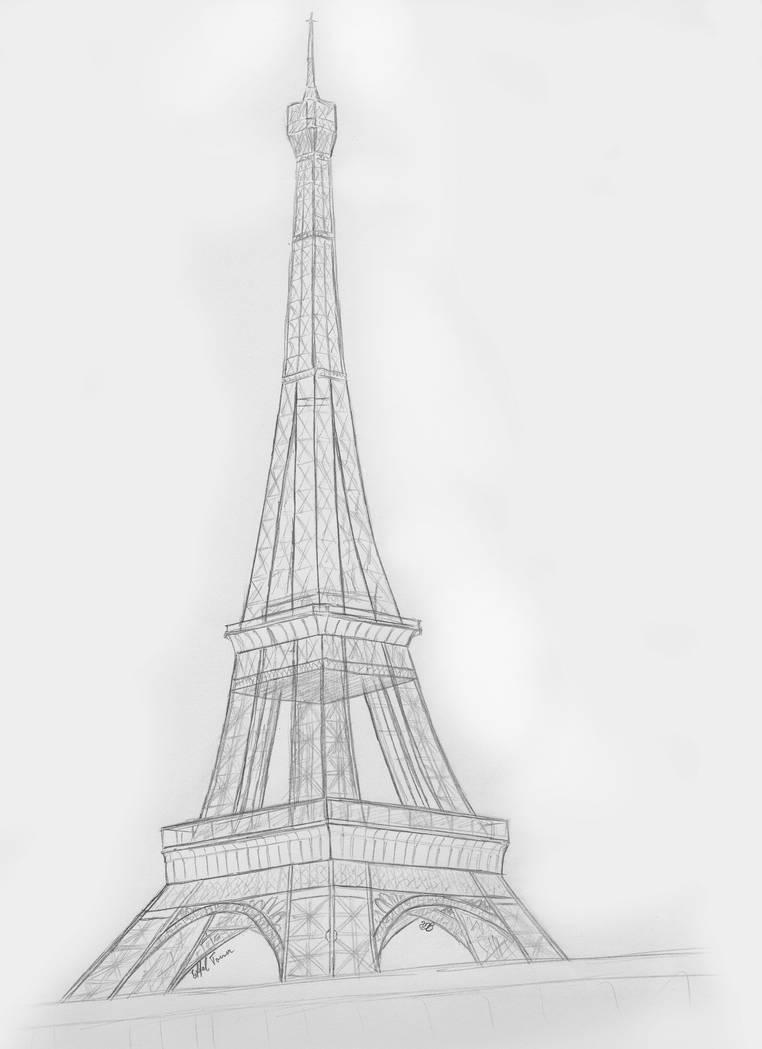 Eiffel tower sketch by ulyses on deviantart