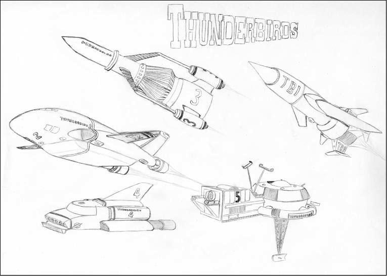 The thunderbirds by ulyses on deviantart for Thunderbirds coloring pages