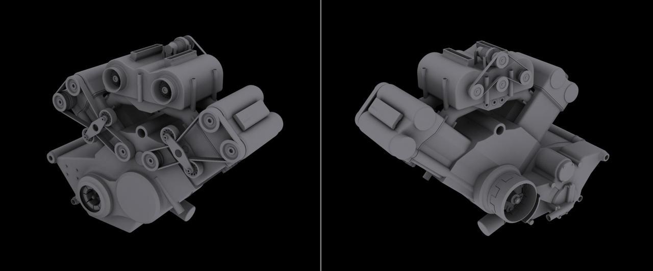 V4 engine 2-0 by ulyses