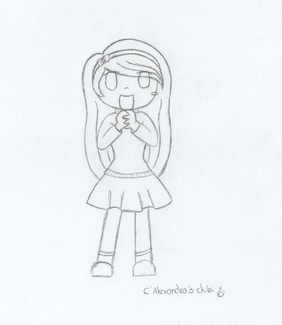 chibi happy girl by catarinaALEXANDRA on deviantART