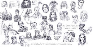 Harry Potter Tribute Sketches