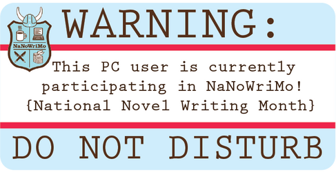 NaNoWriMo Laptop Sticker: PC