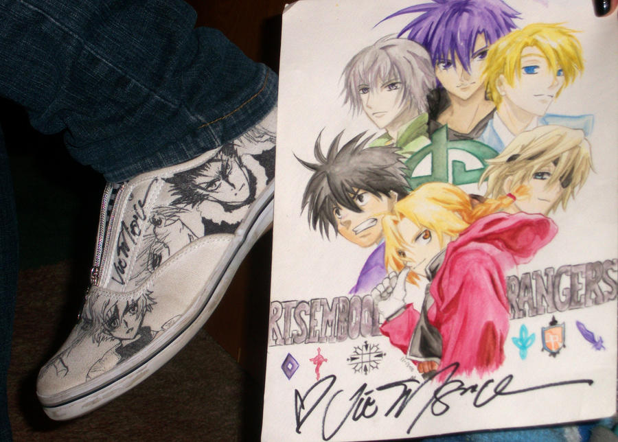Vic Signed My Shoes xD by MoPotter