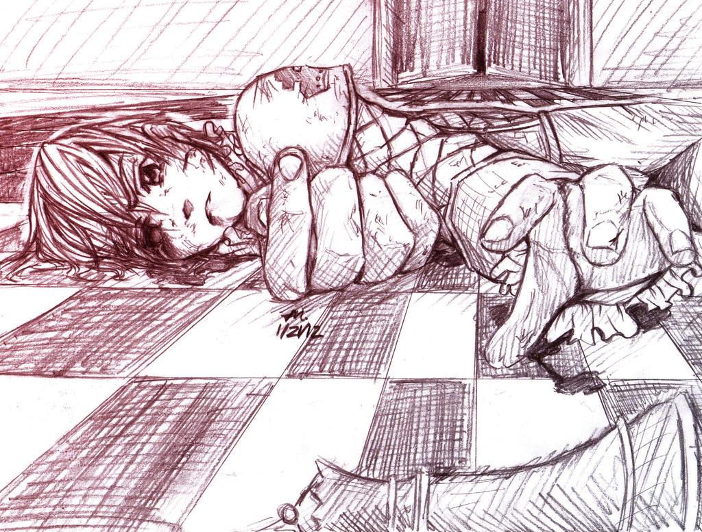 Fallen King: sketch by MoPotter