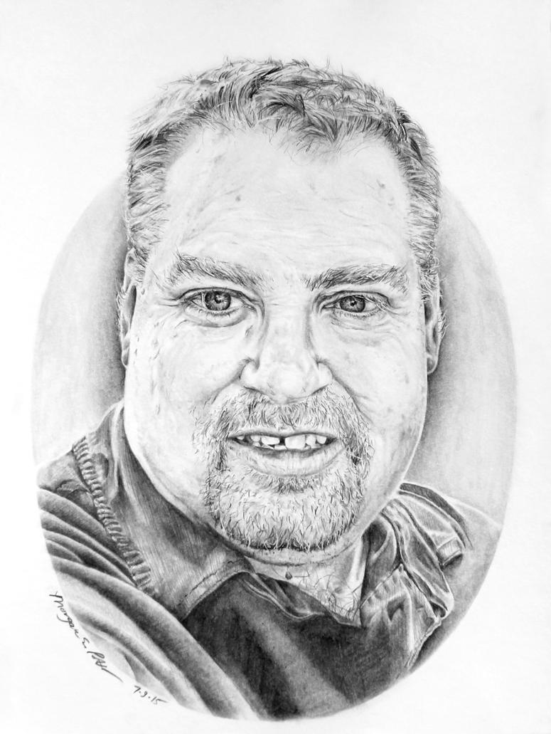 Brad Memorial Portrait by MoPotter