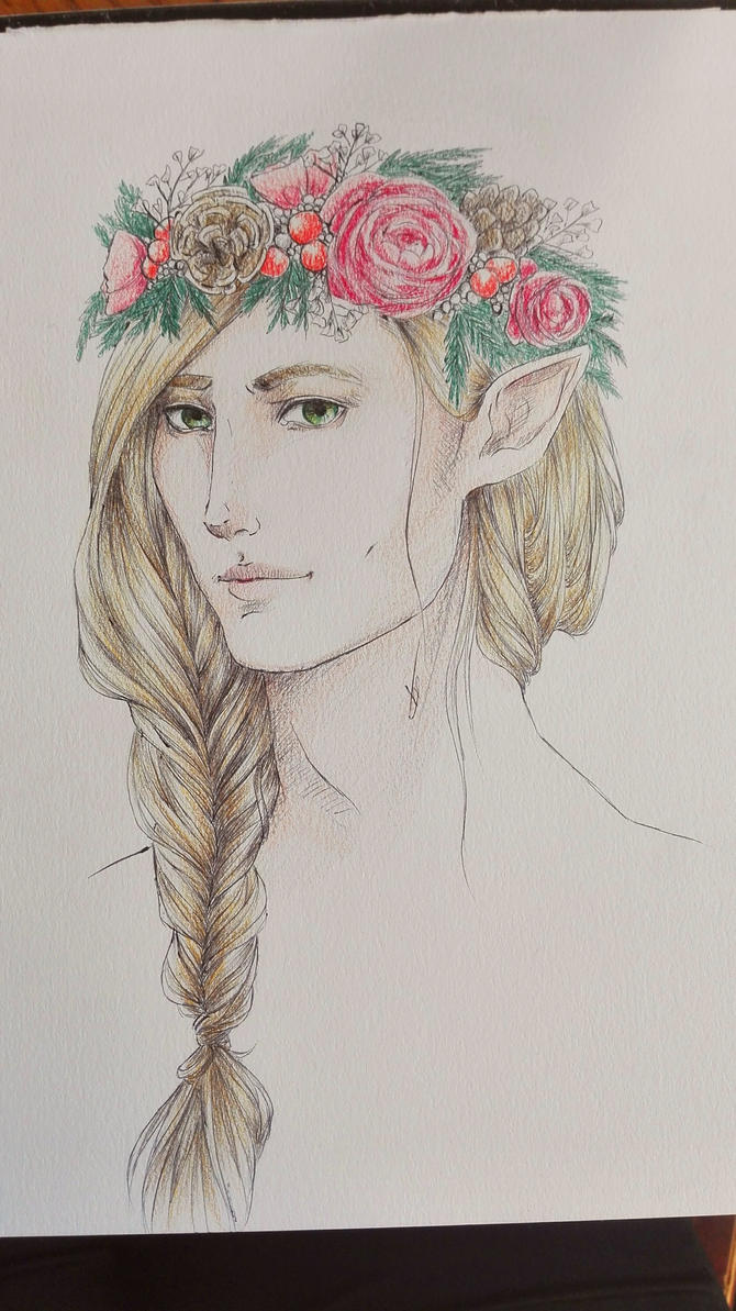 Finrod Winter Flower Crown By Sempern0x On Deviantart