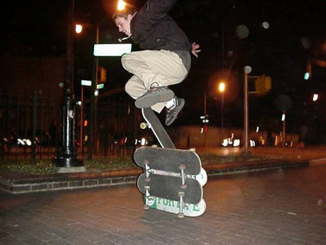 Skateboarding in Brooklyn NY