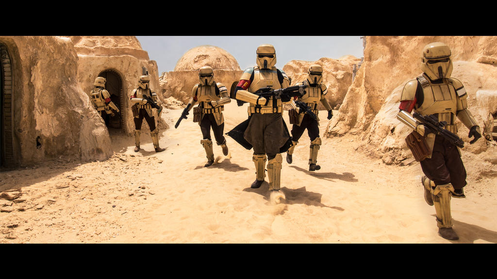Shoretroopers invade Mos Espa by Laubi