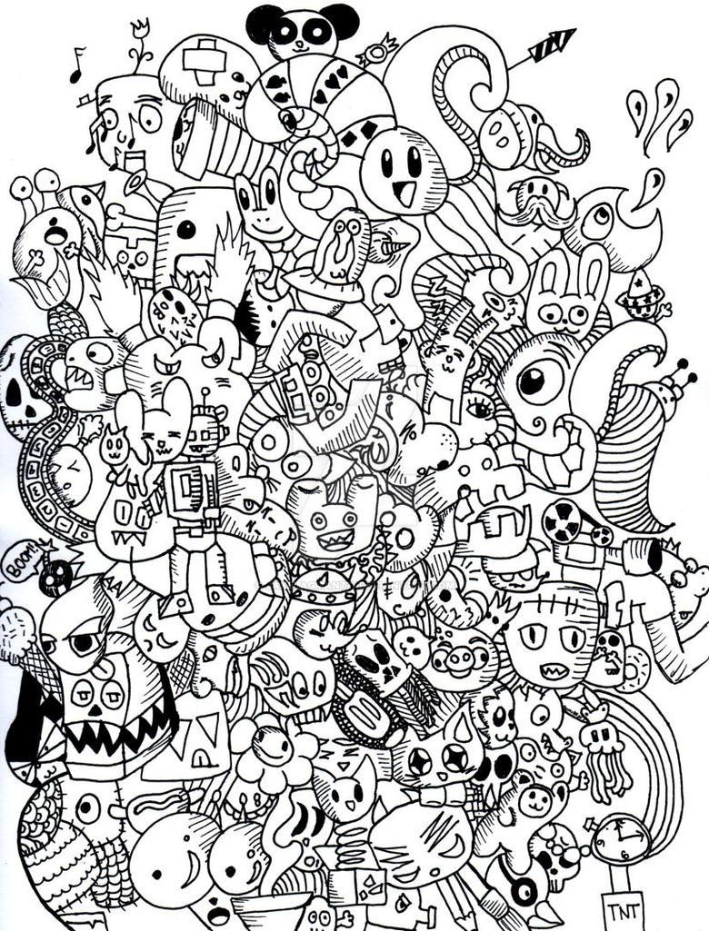 Doodle monster by jakelagman777 on deviantart for Doodle art monster