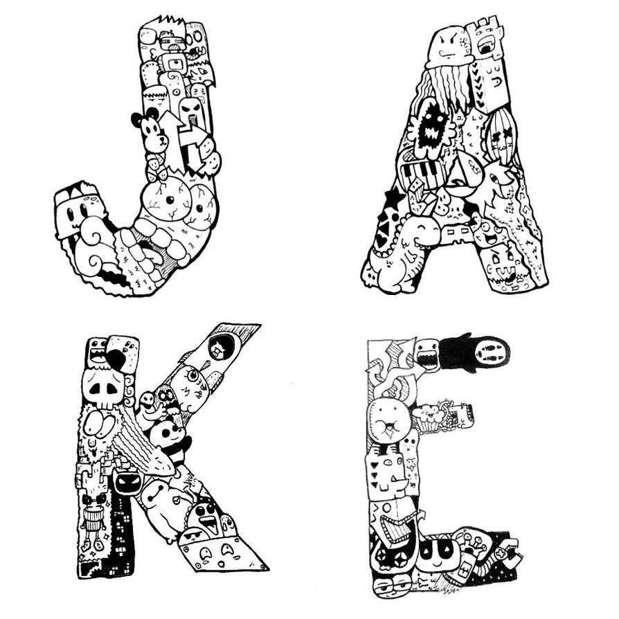 Doodle letters by jakelagman777 on deviantart doodle letters by jakelagman777 altavistaventures Images