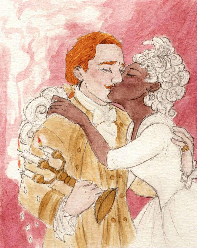 Lumiere And Plumette Kissing By JeffersonFan99