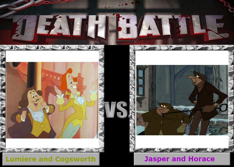 Death Battle Lumiere Cogsworth Vs Jasper Horace By Jeffersonfan99 On Deviantart