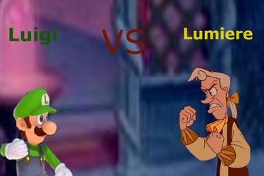 Luigi vs Lumiere by JeffersonFan99