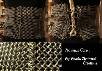 Chainmail Corset by BradsCC