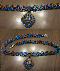 Blue and Bronze Necklace by BradsCC