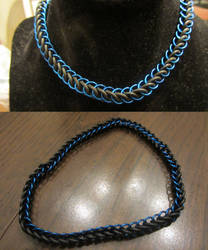 Blue Half Persian Stretchy Choker