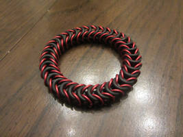Red Stretchy Box Weave Bracelet