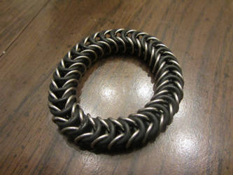 Steel Stretchy Box Weave Bracelet