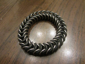 Steel Stretchy Box Weave Bracelet