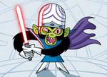 Mojo Jojo with a lightsaber by Culu-Bluebeaver
