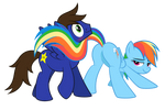 Chaud Starpower and Rainbow Dash