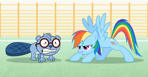 Exercises with Rainbow Dash by Culu-Bluebeaver