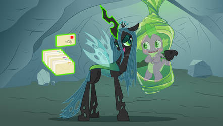 If Queen Chrysalis was Spike's pen pal