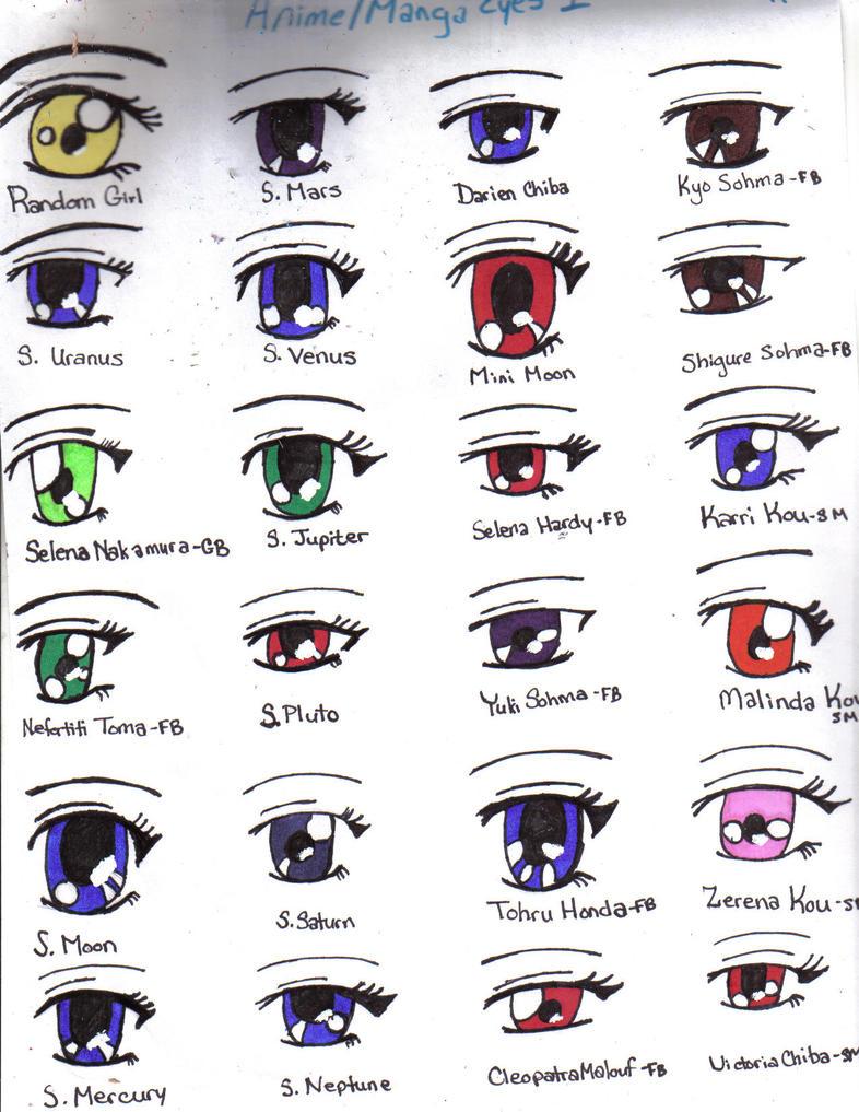 Anime-Manga Eyes 1 by Yaten-Kous-Girl on DeviantArt