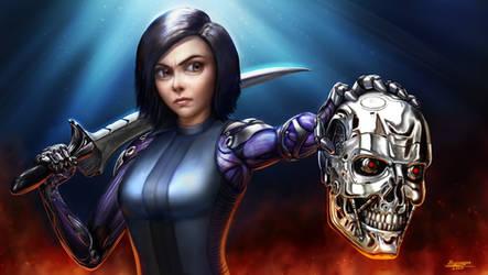 Alita Destroys Terminator