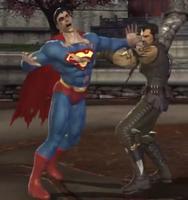 Kano grabs Superman by elijav