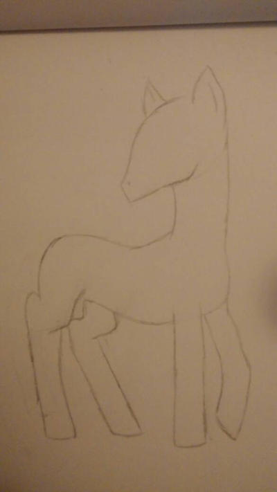 MLP Stallion Body Pose Practice by TheSteampunkQueen