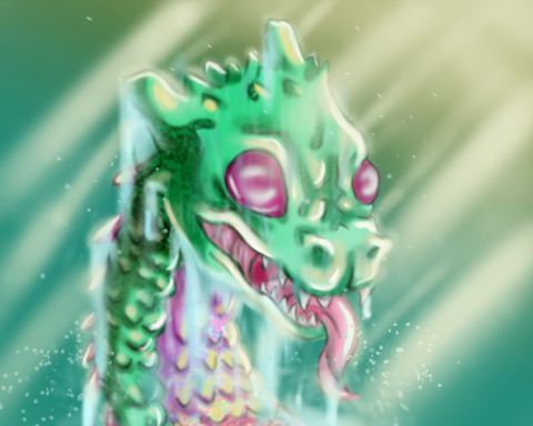 Sea Monster by NekohimeKagepuma