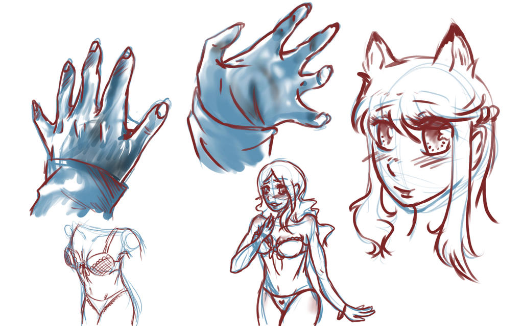 Hand Stuff Practice by NekohimeKagepuma