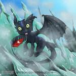 Alpha Toothless Chibi by NekohimeKagepuma