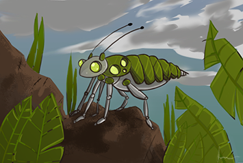 Insect Drone Card Illustration by jesyikaturner