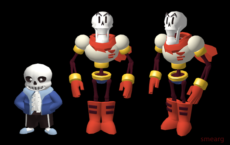 Papyrus Model By Smearg On Deviantart