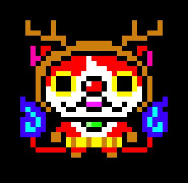 Reindeer Jibanyan Pixel Art Yo Kai Watch By