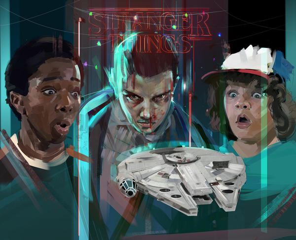 StrangerThings and the Millennium Falcon