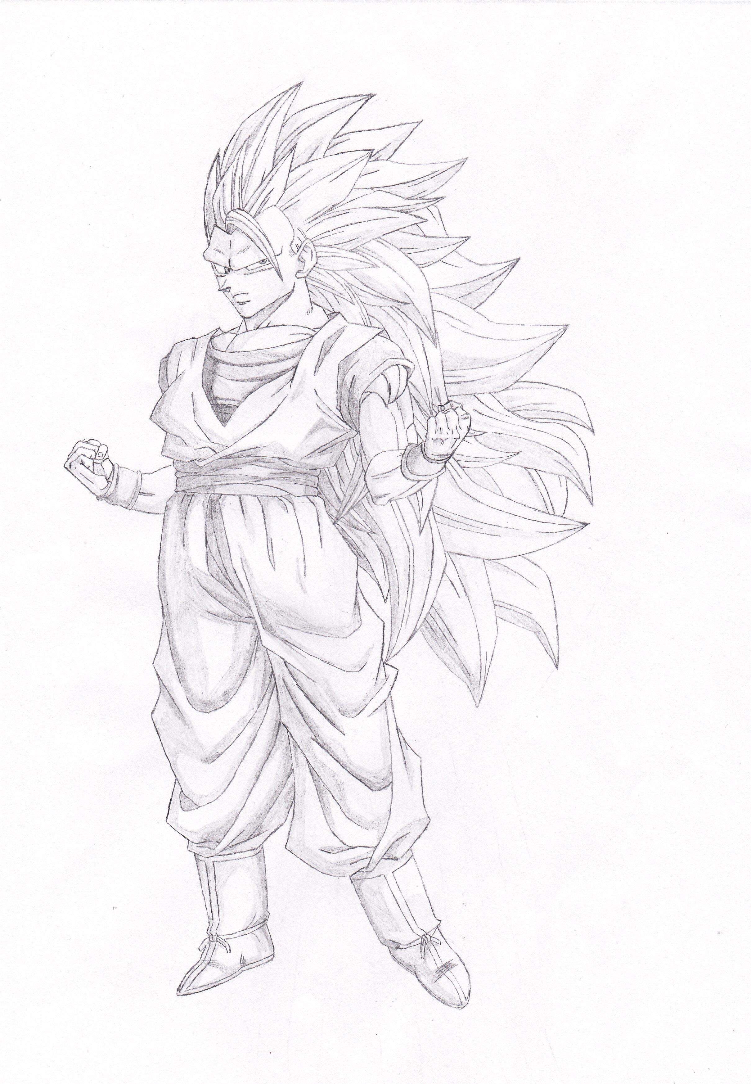 Dragon Ball Z Sangoku Super Sayan 3 By Kronos76 On Deviantart