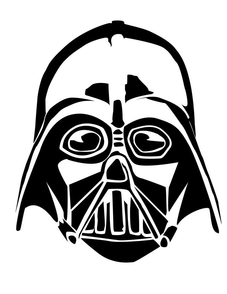 Fantástico Máscara De Darth Vader Para Colorear Imagen - Dibujos ...