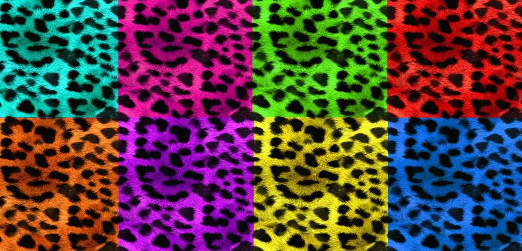 Neon cheetah print backgrounds