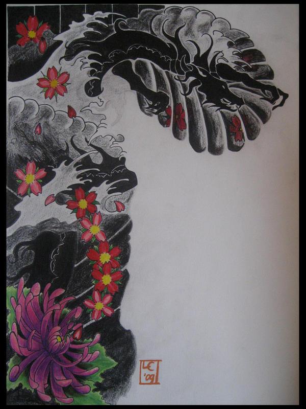 Dragon sleeve - sleeve tattoo