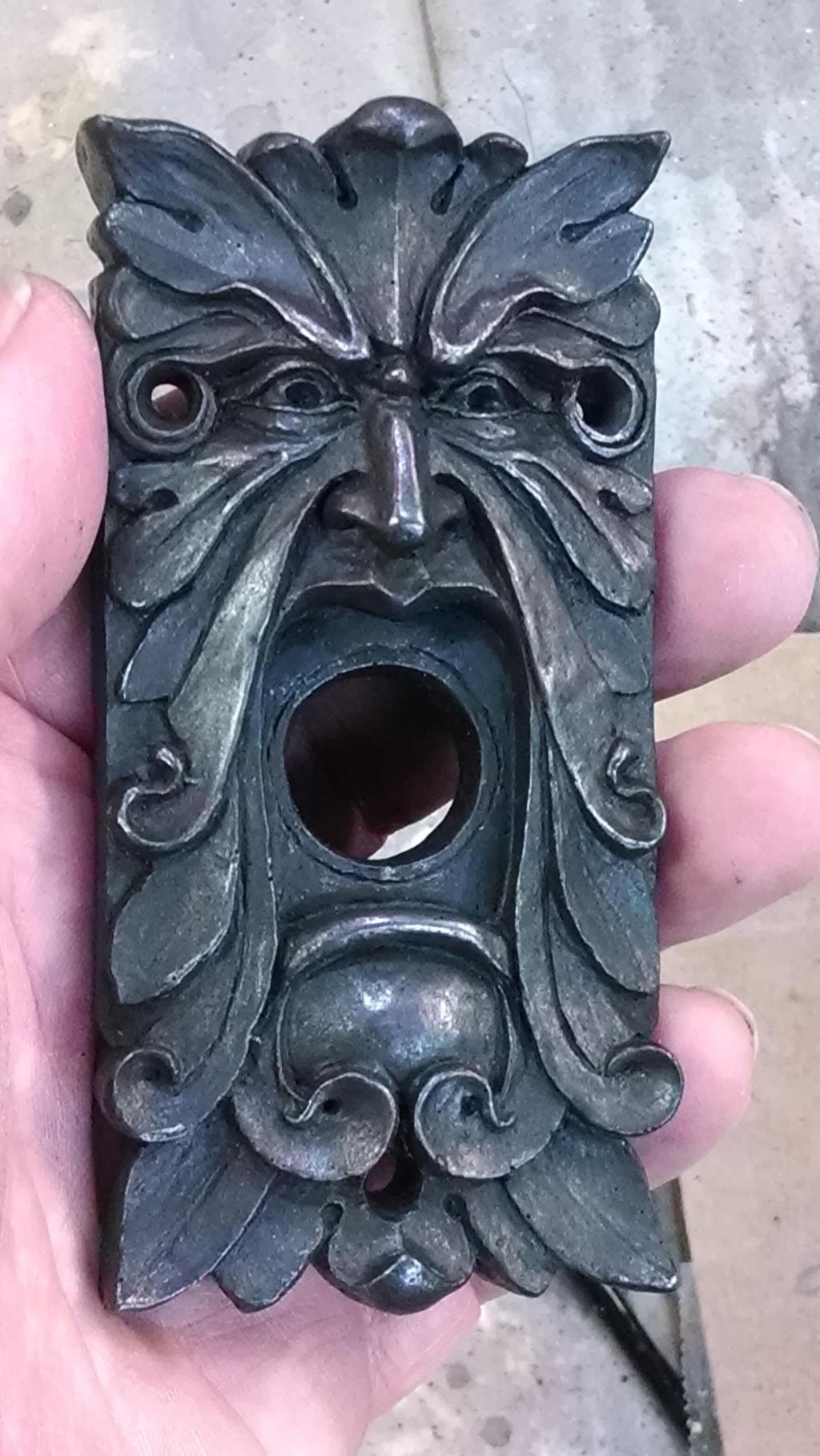 Green Man Doorbell Plate By CastShadowsStudio Green Man Doorbell Plate By  CastShadowsStudio